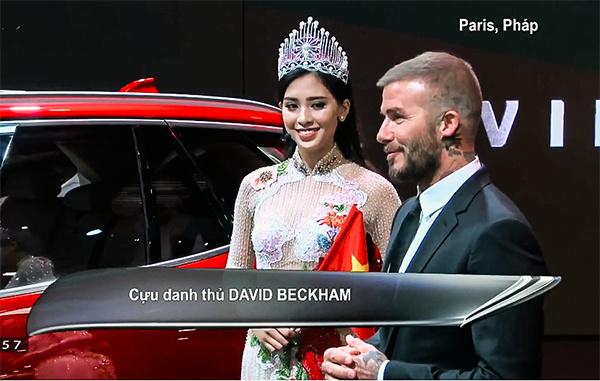 """Vừa ngó qua xe VinFast, David Beckham đã sửng sốt vì chiếc xe """"quá đẹp"""", sản xuất trong thời gian ngắn"""