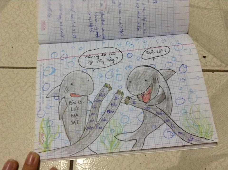 """Yêu cầu học sinh vẽ bản đồ tư duy cho dễ học, cô giáo ngỡ ngàng nhận được kết quả """"bá đạo"""""""