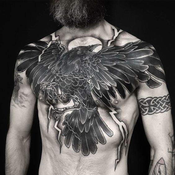 hình xăm ngực thứ vũ khí cực gợi và hiểm của đàn ông