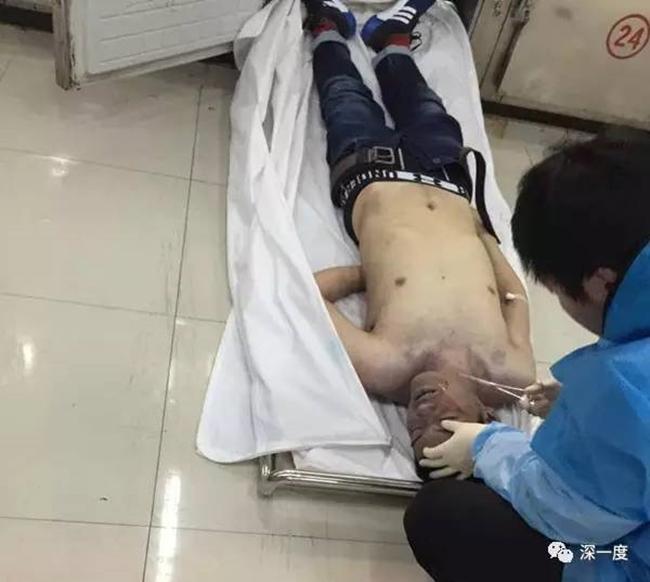 Thi thể nạn nhân tại bệnh viện.
