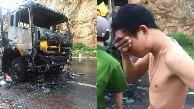 Bình Định: Người dân hôi của trả lại hàng cho tài xế xe tải