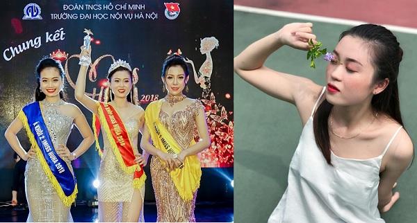 Ngất ngây vẻ đẹp của tân Hoa khôi Đại học Nội vụ 2018 trong cuộc thi chào mừng ngày Nhà giáo Việt Nam