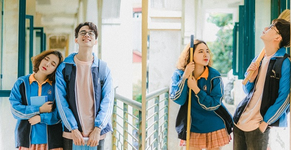 Bộ ảnh siêu lãng mạn của cặp bạn thân khác giới trường ĐH Thương mại khiến nhiều người tiếc nuối thanh xuân