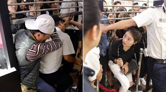"""""""Vỡ trận"""" Black Friday ở Hà Nội: Trung tâm thương mại đóng cửa vội, khách vẫn luồn qua khe đòi mua hàng"""