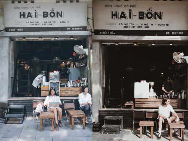 """Rỉ tai nhau mặt tiền quán cafe """"Hai Bốn"""" đang được giới trẻ Hà Thành check-in """"rần rật"""""""