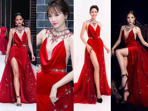 """Đầm đỏ sinh ra có lẽ không dành cho Hari Won khi cứ diện là """"đụng hàng"""" cả showbiz"""