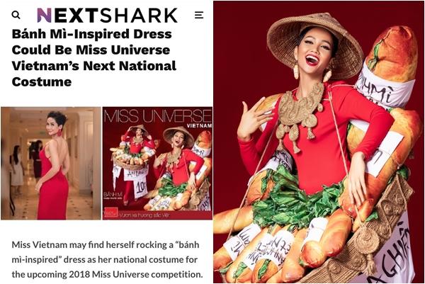 """Trước thềm Miss Universe, báo chí quốc tế bỗng """"sốt rần rật"""" vì bộ quốc phục """"bánh mì"""" của H-Hen Niê"""