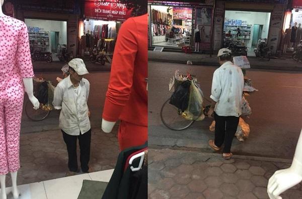 Hình ảnh người đàn ông nghèo trong bộ quần áo rách trước shop quần áo và câu chuyện đằng sau khiến ai cũng cay mắt
