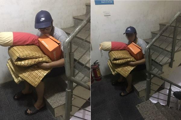 """Hình ảnh anh chồng bị vợ đuổi ra khỏi nhà trong đêm rét cùng lời nhắn """"khuyên anh em không nên lấy vợ"""" gây tranh cãi MXH"""