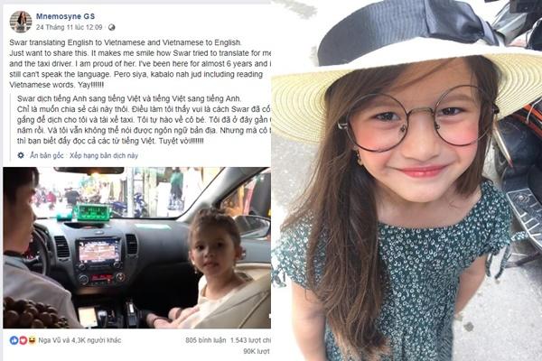 Ngắm loạt ảnh cưng rụng rời của bé gái người nước ngoài gây sốt khi làm thông dịch viên cho mẹ và tài xế Việt