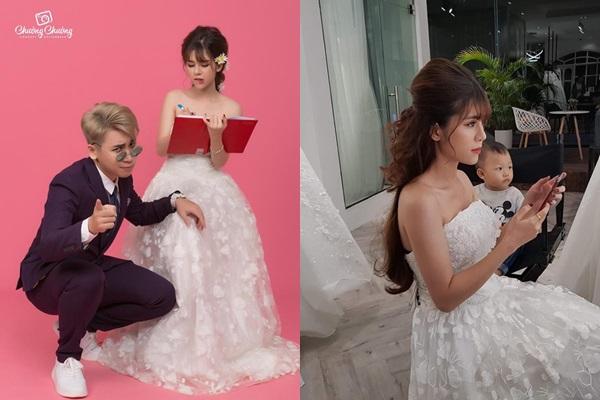 Rò rỉ ảnh cưới cực nhí nhố của Huy Cung, ảnh hậu trường vợ hot girl đã đẹp lung linh rồi!