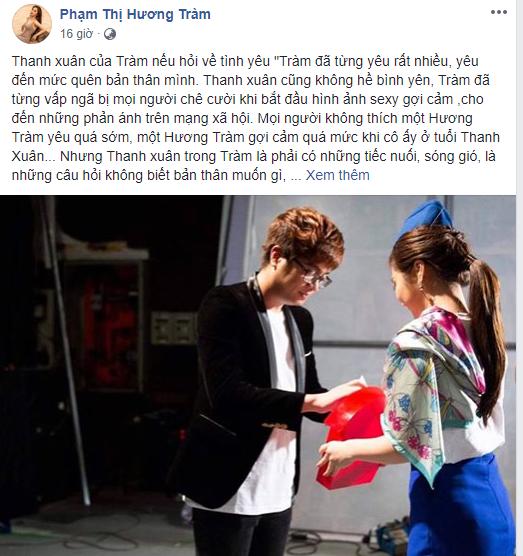 """Hương Tràm bất ngờ đăng ảnh Bùi Anh Tuấn, sướt mướt nói """"dã từng yêu rất nhiều quên cả bản thân"""""""