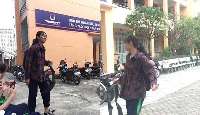Clip: Nữ sinh ôm săm xe thủng đến lớp để trình bày lý do đi học muộn và cái kết