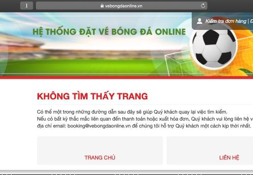 Fan hí hửng lên mạng mua vé trận bán kết thì cả 4 trang web bán vé AFF Cup 2018 cùng sập