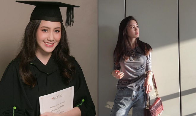 Hot girl Lào gốc Việt rạng rỡ trong lễ tốt nghiệp tại trường đại học danh tiếng Anh quốc