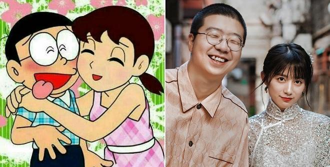 """Thích thú ngắm cặp đôi """"đũa lệch"""" được mệnh danh là Nobita - Shizuka ngoài đời thực"""