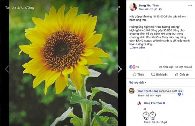 Đua nhau chia sẻ hình ảnh hoa hướng dương góp 30.000 đồng ủng hộ bệnh nhi, CĐM đang hiểu sai?