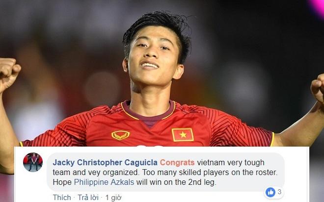 Fan bóng đá khắp châu Á nô nức gửi lời chúc tới ĐT Việt Nam sau chiến thắng trước Philippines