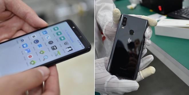 Điện thoại Vsmart lộ ảnh cận cảnh, camera kép đặt dọc giống iPhone XS Max