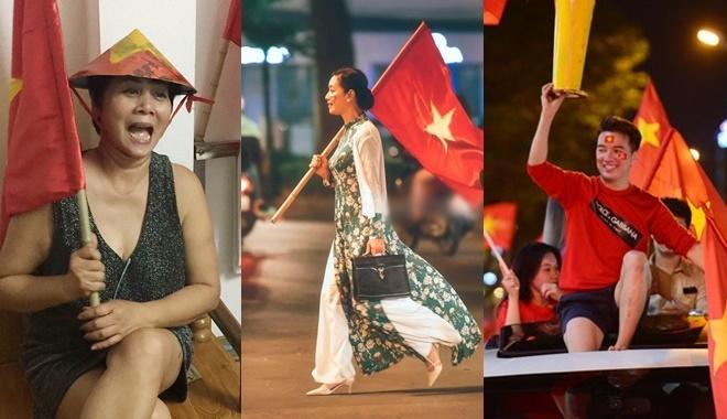 Muôn kiểu đi bão cực chất của sao Việt: NSƯT Chiều Xuân hot nhất với hình ảnh áo dài cầm cờ cực ngầu