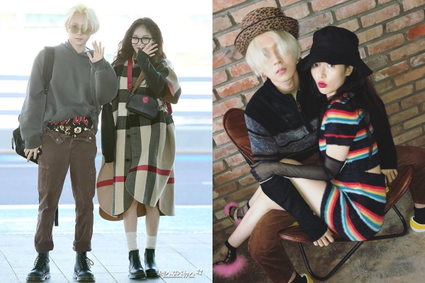 HyunA và E'Dawn tay trong tay tình tứ tại sân bay, thế nhưng nhìn xuống chiếc quần của E'Dawn có gì đó sai sai