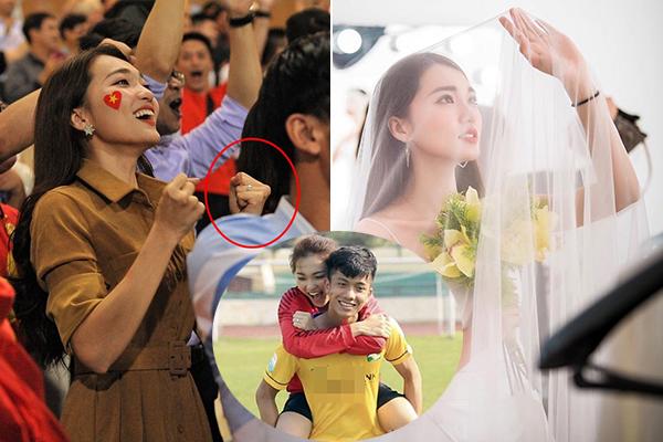 Bạn gái hoa hậu công khai đeo nhẫn đính hôn, phải chăng Phan Văn Đức sắp theo... vợ bỏ cuộc chơi?