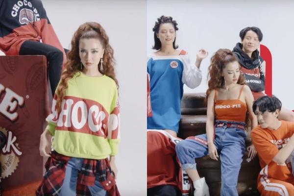 """Bích Phương tiếp tục đốn tim fan trong videography thời trang của """"hãng bánh tuổi thơ"""" Choco.Pie x Lime Orange"""