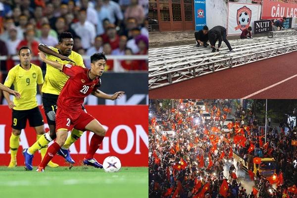 """Cập nhật địa điểm lắp màn hình led """"khổng lồ"""" xem trọn trận chung kết AFF Cup giữa Việt Nam - Malaysia"""