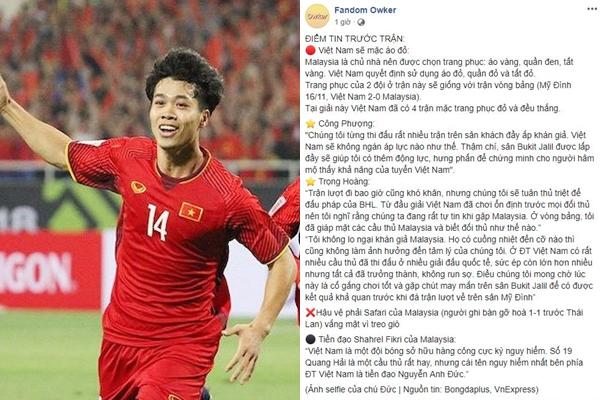 """Bất ngờ lộ """"điềm báo"""" về chiến thắng của đội tuyển Việt Nam trên đất Malaysia tối nay chỉ bằng """"trang phục""""?"""