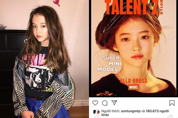 """Cận nhan sắc mẫu nhí nhà YG đang bị Sơn Tùng """"bão like"""" trên MXH: Đẳng cấp con lai xinh như """"thiên thần"""""""
