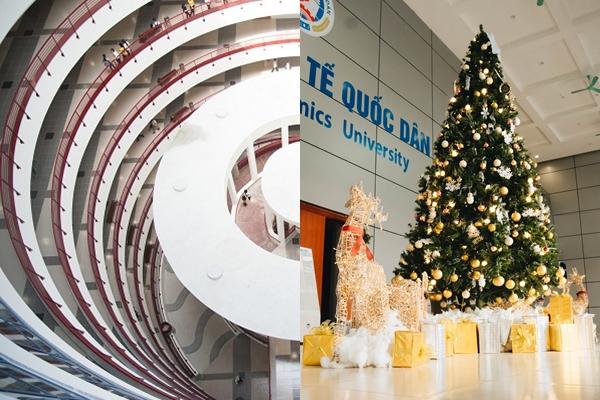 """NEU lại thành """"thiên đường sống ảo"""" vì trang trí Noel """"sang chảnh"""" như khách sạn 5 sao bên trong """"toà nhà thế kỷ"""""""