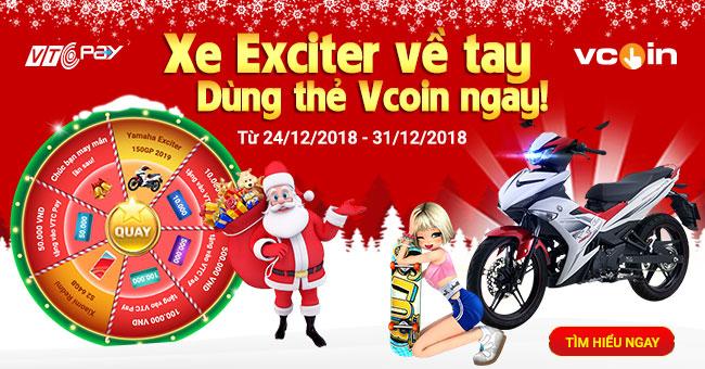 Chào mừng Giáng sinh - Rinh xe Exciter 150GP cùng VTC Pay