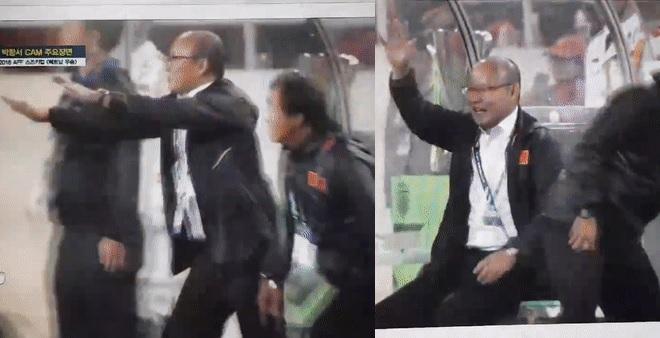 """Loạt biểu cảm ấn tượng của thầy Park trong trận chung kết AFF Cup được đài SBS """"quay lén"""""""