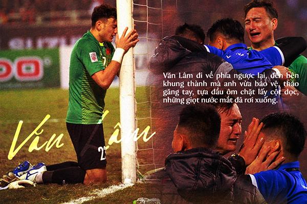 Bố của Văn Lâm tiết lộ lý do con trai ôm cột dọc khóc đầy xúc động khi vô địch AFF Cup 2018