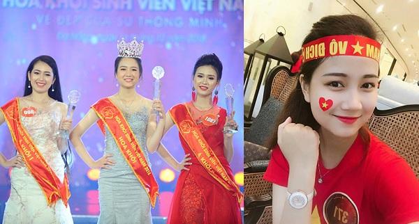 """""""Đánh mất"""" trái tim với nhan sắc """"hoa nhường nguyệt thẹn"""" của tân Hoa khôi Sinh viên Việt Nam 2018"""