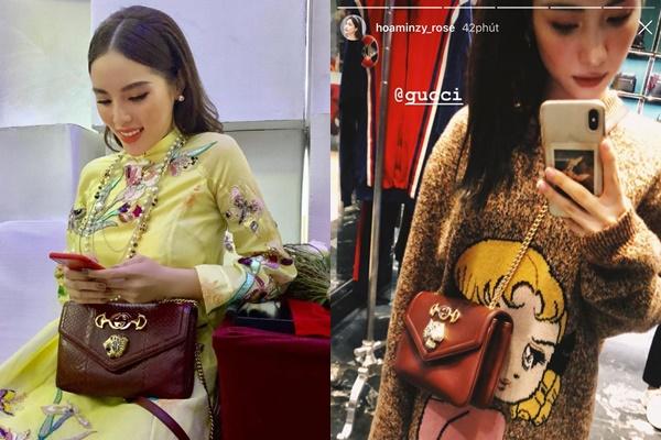 """Cái kết cho Hòa Minzy khi diện chung 1 chiếc túi với """"Hoa hậu hàng hiệu"""" Kỳ Duyên"""