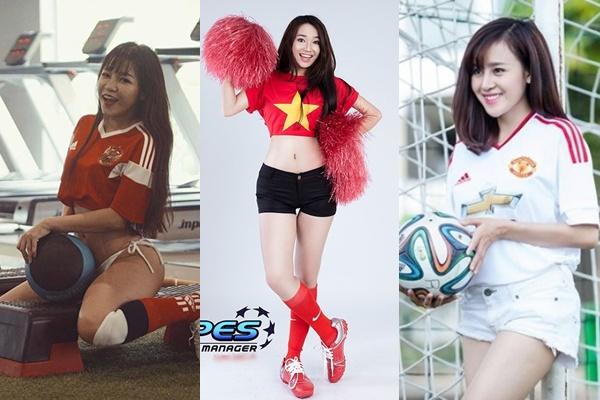 Khi các mỹ nhân Việt hóa CĐV bóng đá, khó ai nóng bỏng như bạn gái Lâm Tây