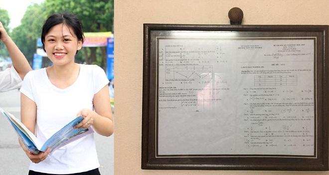 Nữ sinh đóng khung treo tường 5,2 điểm môn Toán quý hơn vàng vì lần đầu thi tốt đến thế