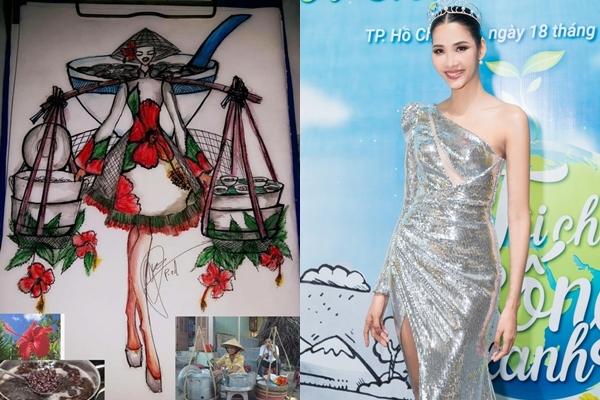 CĐM đã giúp Hoàng Thùy thiết kế trang phục dân tộc dù cưa lên đường dự thi Miss Universe 2019