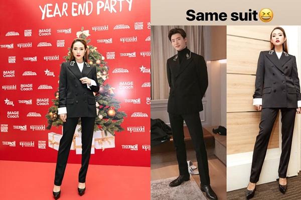 Minh Hằng chơi lớn khi diện suit đôi với nam tài tử hàng đầu xứ hàn Lee Jong Suk