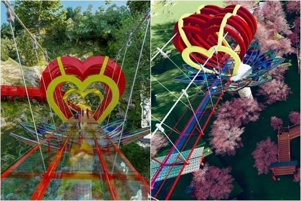 """HOT : Siêu phẩm """"cầu kính tình yêu"""" đầu tiên xuất hiện ở Việt Nam sắp khánh thành tại Mộc Châu"""