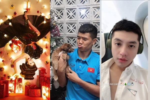 """Sao Việt tung ảnh đón Giáng Sinh: Lan Khuê ma mị như Halloween, Noo Phước Thịnh xuất hiện gương mặt bơ phờ """"bóng lộn"""""""