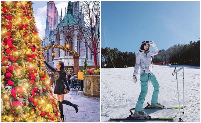 """""""Rich kid"""" Việt đón Noel 2018: Người sang chảnh trượt tuyết ở xứ Hàn, kẻ ăn mì phá lấu bình dân Sài Gòn"""
