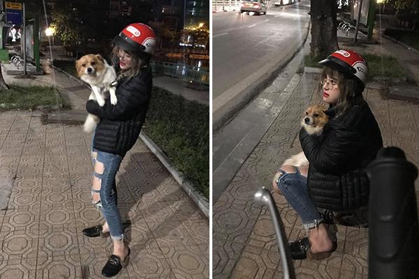 Gái xinh lại còn tốt bụng: Đi tìm chủ nhân cho chú chó bị lạc đến tận 1 giờ sáng giữa đêm đông buốt giá