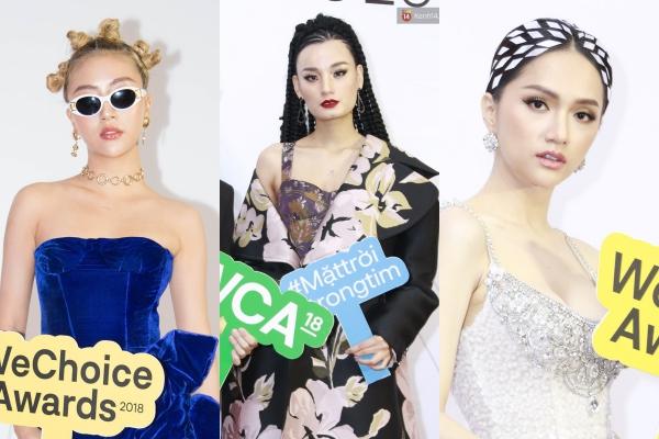 """Dàn mỹ nhân sở hữu mái tóc """"chặt chém"""" nhất WeChoice Awards 2018: Quỳnh Anh Shyn búi tóc siêu """"quái"""" , nhìn sang Elly Trần mới hốt hoảng"""