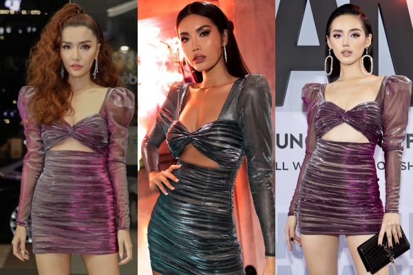 Minh Tú gợi cảm hết nấc là thế, nhưng khi diện chung một kiểu váy với Khánh Linh và Bích Phương thì vẫn chưa biết ai hơn ai đâu