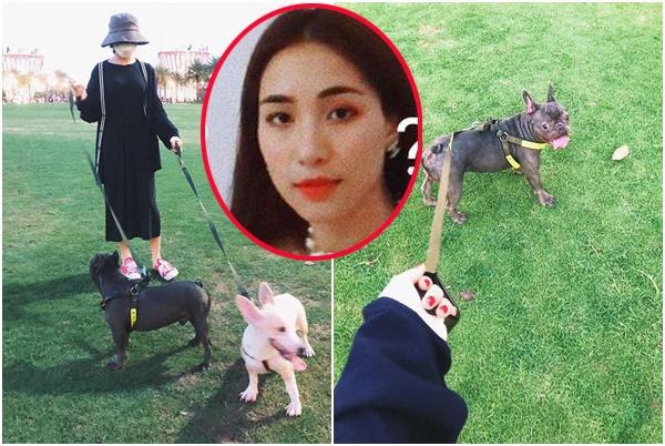 """Ngang nhiên dắt chó """"sống ảo"""", Hòa Minzy lại bị chửi vì """"nơi này cấm dẫm lên cỏ thưa Hòa""""!"""