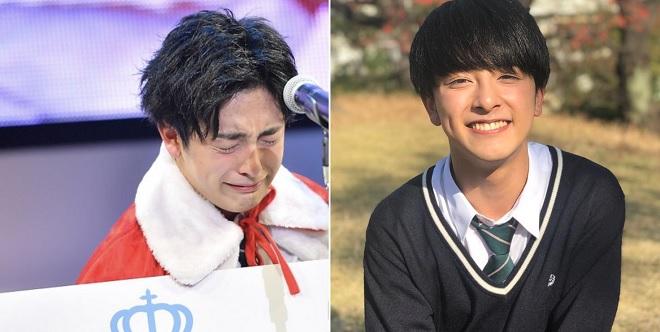 """Cậu bạn 18 tuổi bật khóc trong ngày đăng quang ngôi vị """"Nam sinh đẹp trai nhất Nhật Bản"""""""