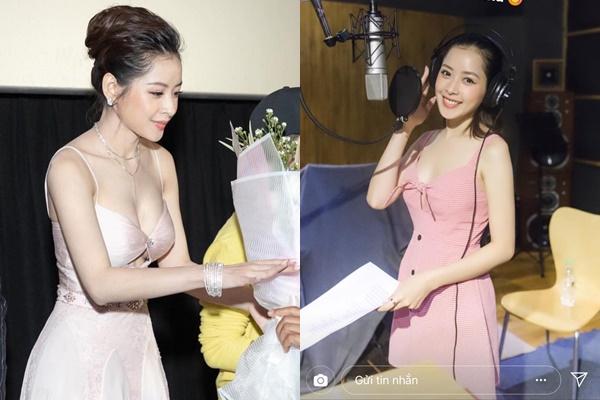 """Sau loạt ảnh """"lép xẹp"""", Chi Pu quyết tâm lấy lại vị trí """"ngực khủng"""" với chiếc váy bó chẽn đến nghẹt thở"""