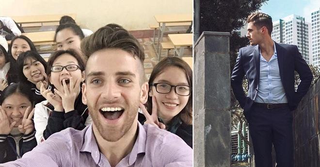 Những thầy giáo Tây điển trai khiến học sinh Việt Nam phải xôn xao trên mạng xã hội
